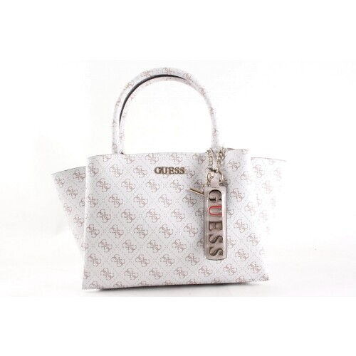 Guessbags maci girlfriend satchel wit Direct leverbaar uit